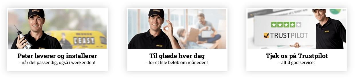 Screenshot - Leasy.dk service