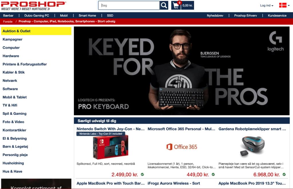 Proshop webshop